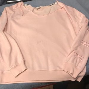 PINK wide neck sweater